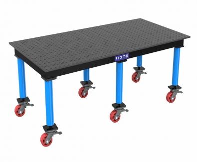 FIXTO Modular Welding Table with wheels